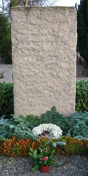 Eilert Ekwall - Eilert Ekwall's gravestone at the Northern Cemetery in Lund.