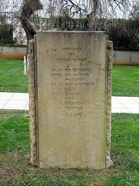 Au cimetière de la Guerre de 1870 à Gravelotte.