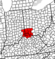 Counties in Ohio, Kentucky and Indiana