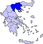 Lokasi Macedonia Tengah di Greece