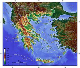 Zemljopisna Karta Grcke Karta