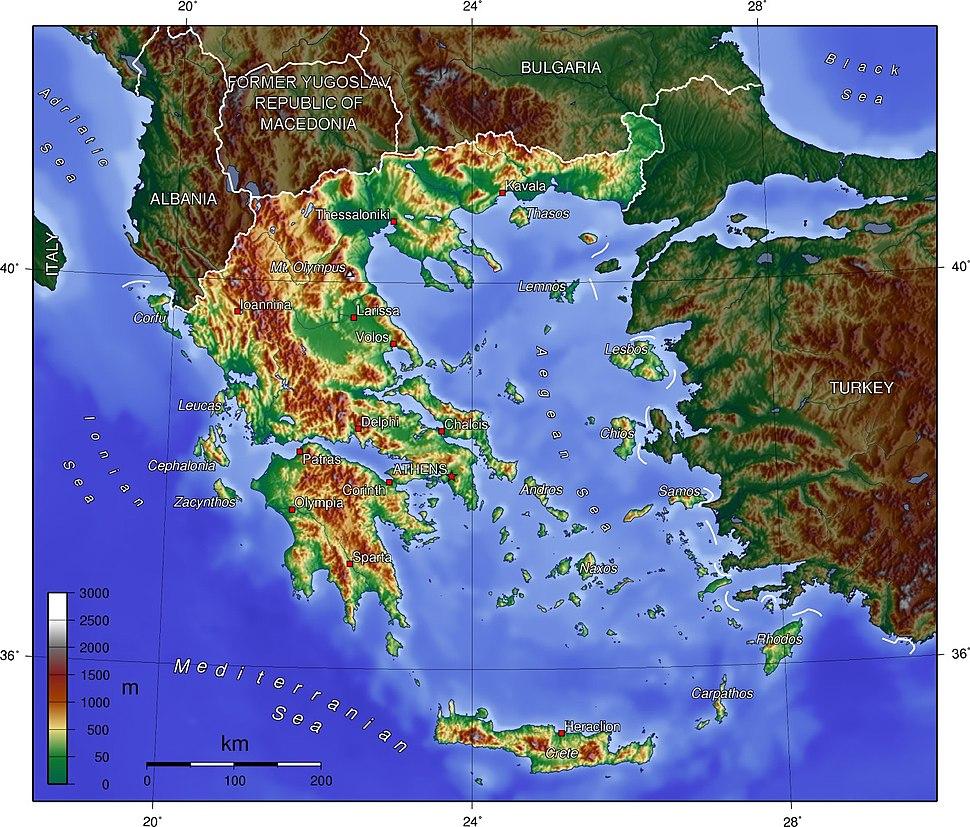 Greece topo