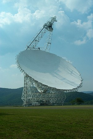Observational astronomy - Fully-steerable radio telescope in Green Bank, West Virginia.