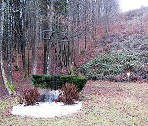 Kucja Valley - Image: Grobisce zrtev povojnih pobojev v Kucji dolini Slovenia