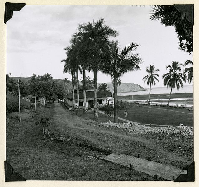 File:Guard house and cell-block, La Central, Coiba Island, 1956 (8231823549).jpg