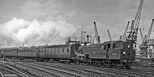 Esk Valley line - Darlington to Saltburn local train at Guisborough Junction in 1954
