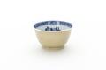 Gulbrun glaserad kopp i porslin med blå glasyrmålning - Skoklosters slott - 93282.tif