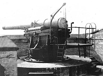 8-inch M1888 - 8-inch gun M1888 on barbette carriage M1892; these preceded the disappearing carriage in US service.