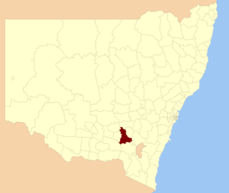 Cootamundra-Gundagai Regional Council - Boundaries of Gundagai Council formed 2016