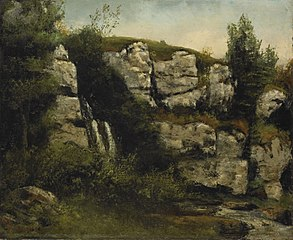 Landscape with Rocky Cliffs and a Waterfall