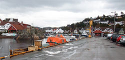 Høllen harbor in Søgne