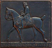 Dieses Eisengussbild von 1936 wurde in der Königlich Preußischen Eisengießerei in Gleiwitz gegossen (Quelle: Wikimedia)