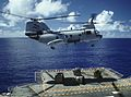 HH-46D of HC-11 over USS Tripoli (LPH-10) in 1994.jpeg