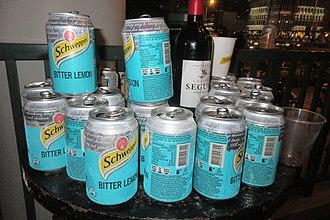 Bitter lemon - Schweppes cans