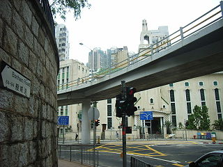 Bonham Road street in Hong Kong