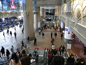 Times Square (Hong Kong) - Entrance lobby of Times Square.