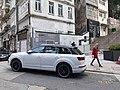 HK SW 上環 Sheung Wan 城皇街 Shing Wong Street 必烈者士街 Bridges Street sidewalk carpark white Q7 Audi February 2020 SS2 02.jpg