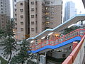 HK Siu Sai Wan Road footbridge evening view Harmony Road 富欣花園 Harmony Garden.jpg