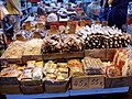 HK Yuen Long New Street market zone sidewalk shop n food display for sale October 2016 Lnv 06.jpg