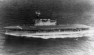 HMS Eagle (1918) - Image: HMS Eagle underway 1930s