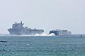 HMS Ocean and Condor Express ships.JPG