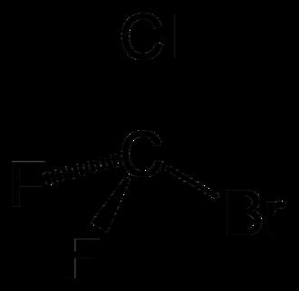 Bromochlorodifluoromethane - Image: Halon 1211 2D