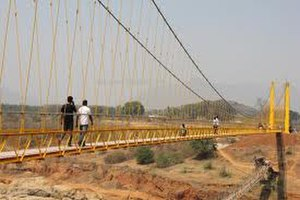 Hanging Bridge at Chekaguda, Rayagada - Hanging (Jhula) Bridge at Chekaguda, Rayagada