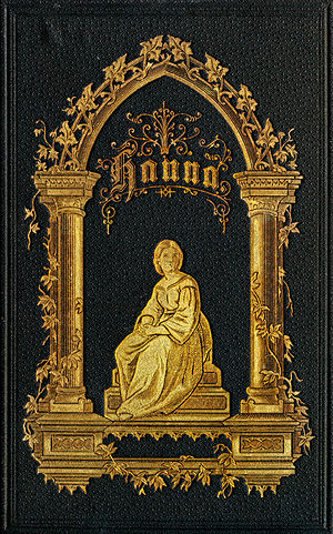 Book cover - Early 20th century leather book cover, with gold leaf ornamentation.