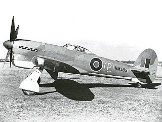 Hawker Tempest fighter-bomber aircraft