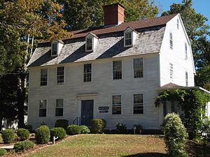 Nathaniel Hayward - Nathaniel Hayward's House in Colchester, CT, now on the National Register of Historic Places