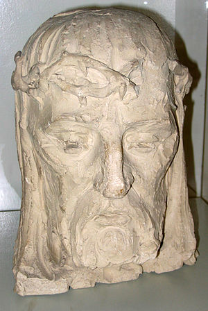 English: Christian Petersen's Head of Christ i...