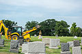 Headstone placement - Mt Olivet - Washington DC - 2014.jpg