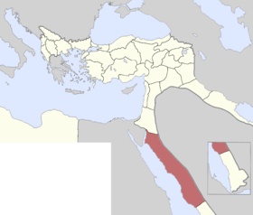 Location of Hicaz Vilayeti