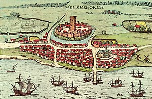 Kärnan - Image: Helsingborg 1589 Georg Braun