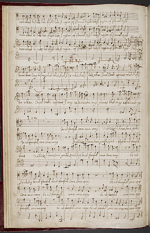 Henry Purcell - Purcell's manuscript copy of  When on my sick bed I languish (c. 1680)