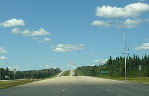 Alberta Highway 43 - Westbound lanes of Highway 43, west of Whitecourt