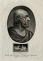 Hippocrates. Coloured stipple engraving by J. Chapman, 1809. Wellcome V0002788EL.jpg