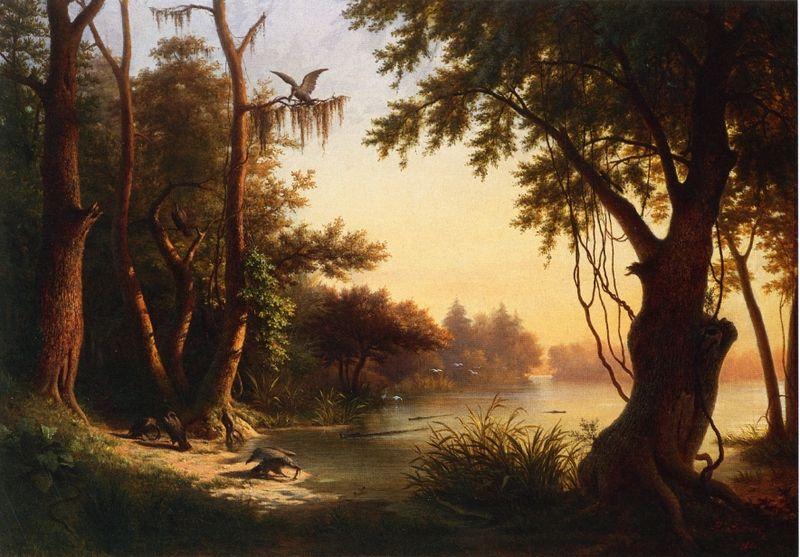File:Hippolyte Sebron - Crocodile Lake.jpg