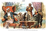 His Little Hawaiian Game Checkmated political cartoon 1894 (retouched - HR).jpg