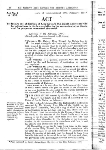 File:His Majesty King Edward the Eighth's Abdication Act 1937.djvu