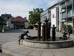 Brunnen auf dem Marktplatz von Hösbach