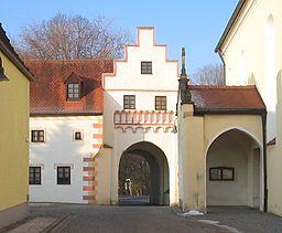 Town gate of Hohenwart, Bavaria, Germany