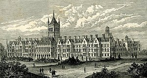 Holloway Sanatorium - Wood-engraving from the Illustrated London News, 5 January 1884