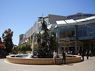 Hornsby, New South Wales - Florence Street Mall with Hornsby Water Clock