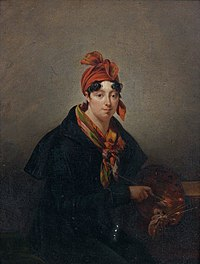 Hortense Haudebourt-Lescot - Self-portrait with palette.jpg