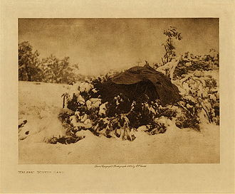 Hualapai - A Hualapai winter camp, photographed by Edward Curtis, 1907.