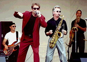Huey Lewis and the News performing at at Gulfs...