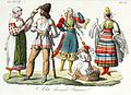 Hungarian traditional costumes, Illustration for Il costume antico e moderno by Giulio Ferrario 1831 (10).jpg