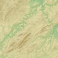 Hunsrück (Relief) - Deutsche Mittelgebirge, Serie A-de.png