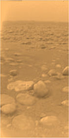 Huygens image from Titan's surface